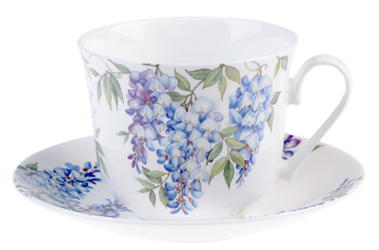 Wisteria Breakfast Cup and Saucer