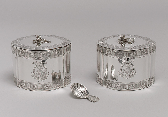 1790 Silver Antique Tea Caddy